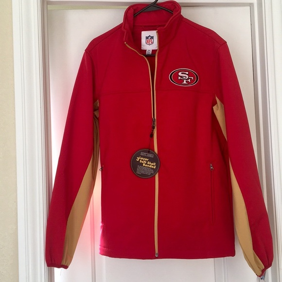 new product 8a801 a399d NFL 49ers 3-Layer Soft Shell Bonded Jacket NWT